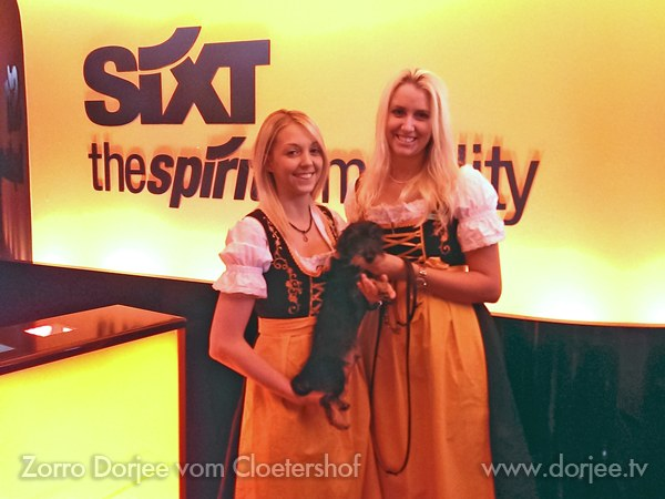 Dorjee and the Dirndles during Oktoberfest